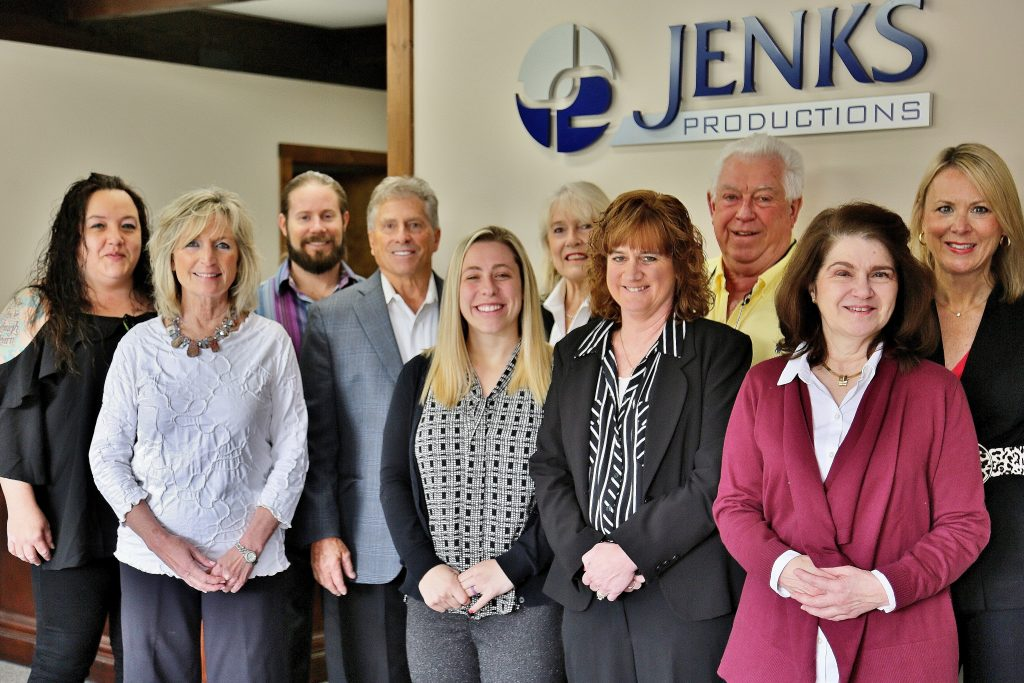 Team photo of event management company, Jenks Productions.