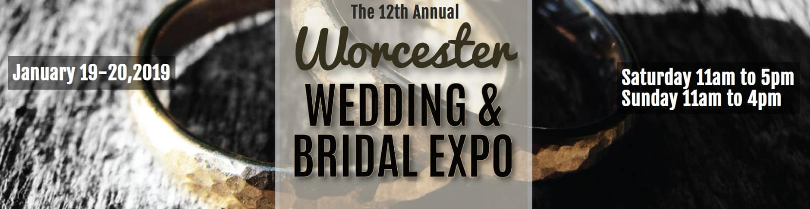 Worcester MASS Bridal Expo January 19th & 20th 2019. Produced by Jenks Productions